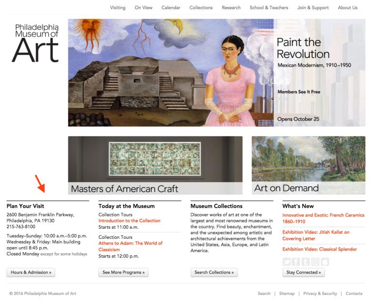 PMA Web Critique - Entire Homepage