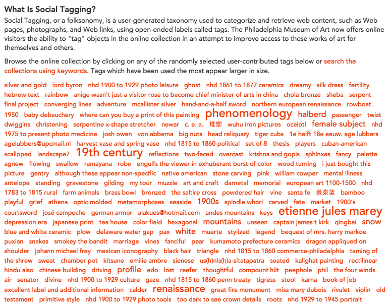 PMA Web Critique - Social Tagging 1